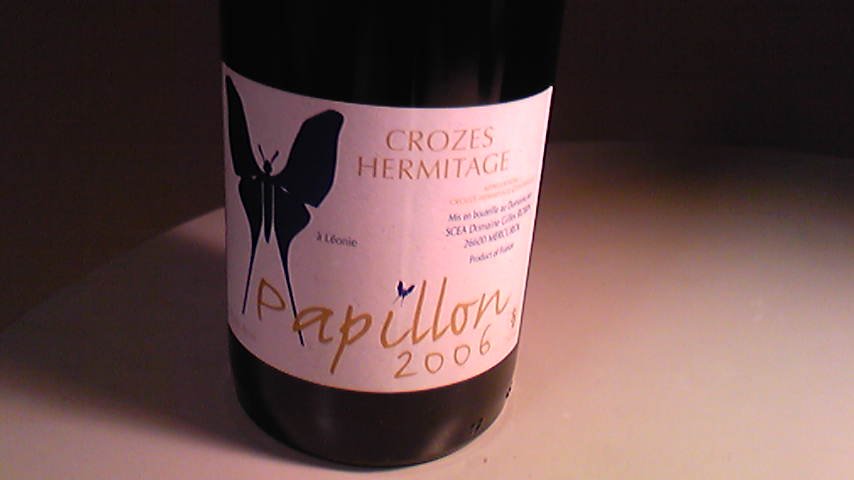 CROZES HERMITAGES PAPILLON 06 GILL LOPIN